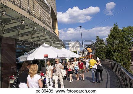 Stock Image of Modern Shopping Centre Zlote Tarasy, Warsaw, Poland.