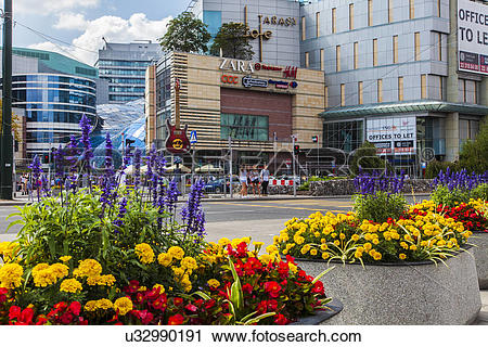 Stock Photography of Poland, Mazovia Province, Warsaw. Downtown.