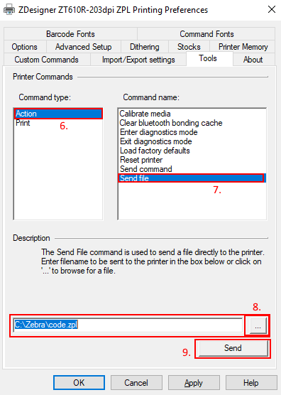 Sending ZPL Commands to a Printer.