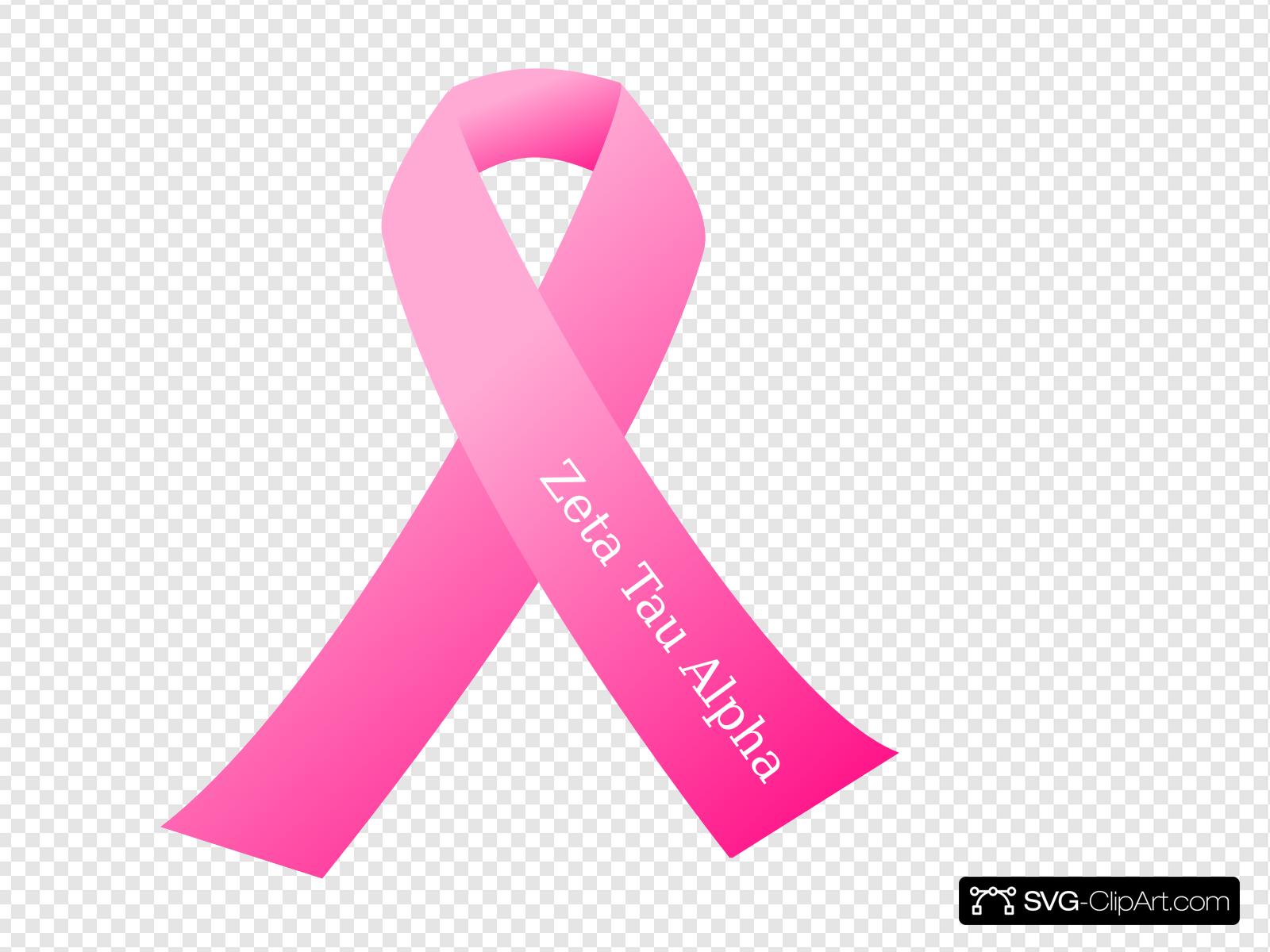 Zta Pink Ribbon Clip art, Icon and SVG.
