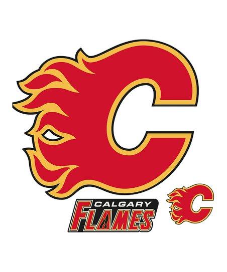 Fathead Calgary Flames Logo NHL Wall Decal Set.