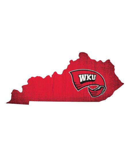 Fan Creations Western Kentucky Logo State Sign.