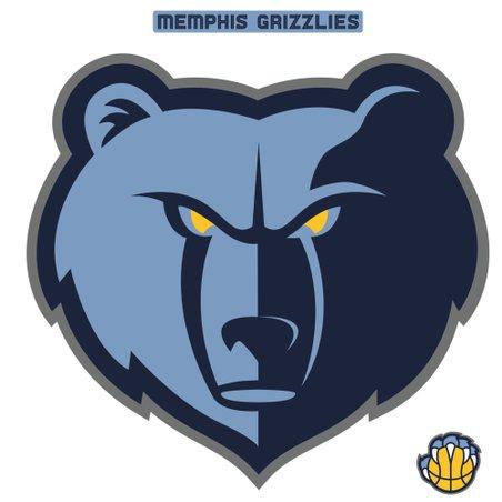 Fathead Memphis Grizzlies Logo Large Decal Set.