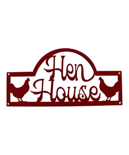 White Barn Décor Hen House Chicken Wall Sign.