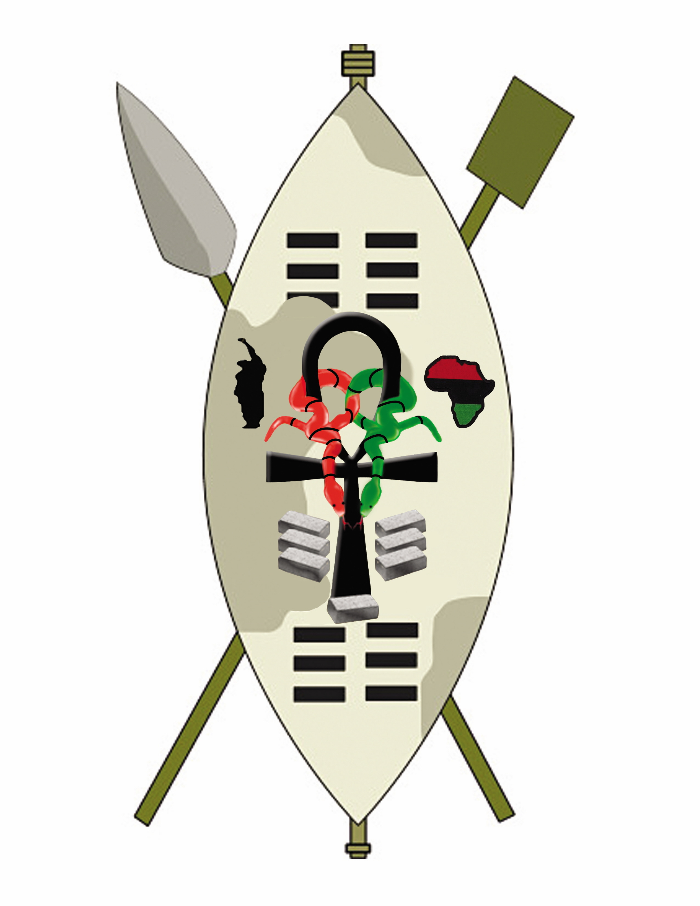 Zulu shield clipart.