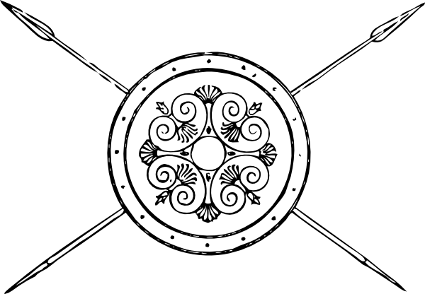 Shield And Spear Clipart.