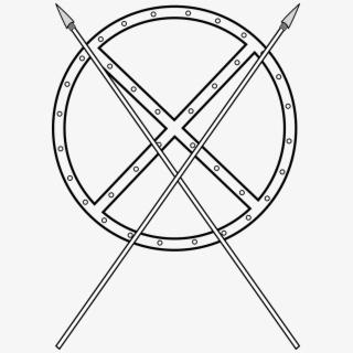 Zulu Shield And Spear Clipart , Transparent Cartoon, Free.