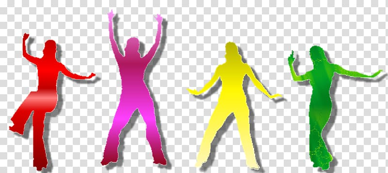 Zumba Dance , Silhouette transparent background PNG clipart.