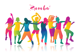 Zumba Dancer Clipart.