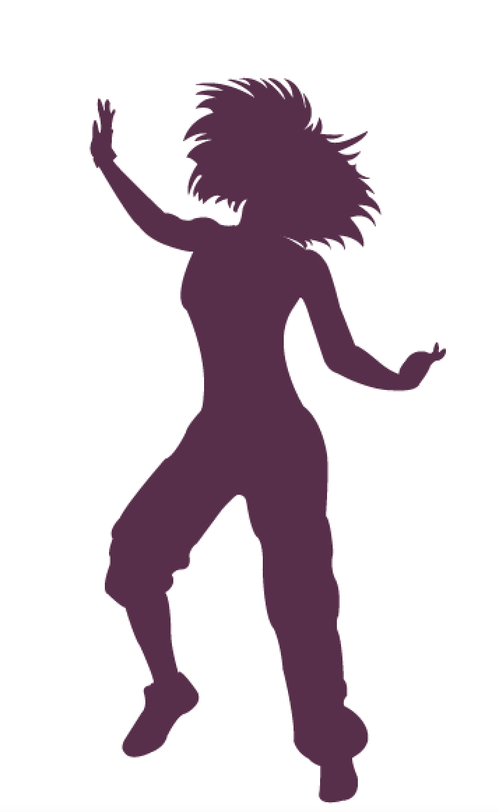zumba dancer silhouette.