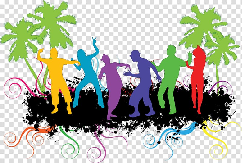 Dance party , Zumba silhouette transparent background PNG.
