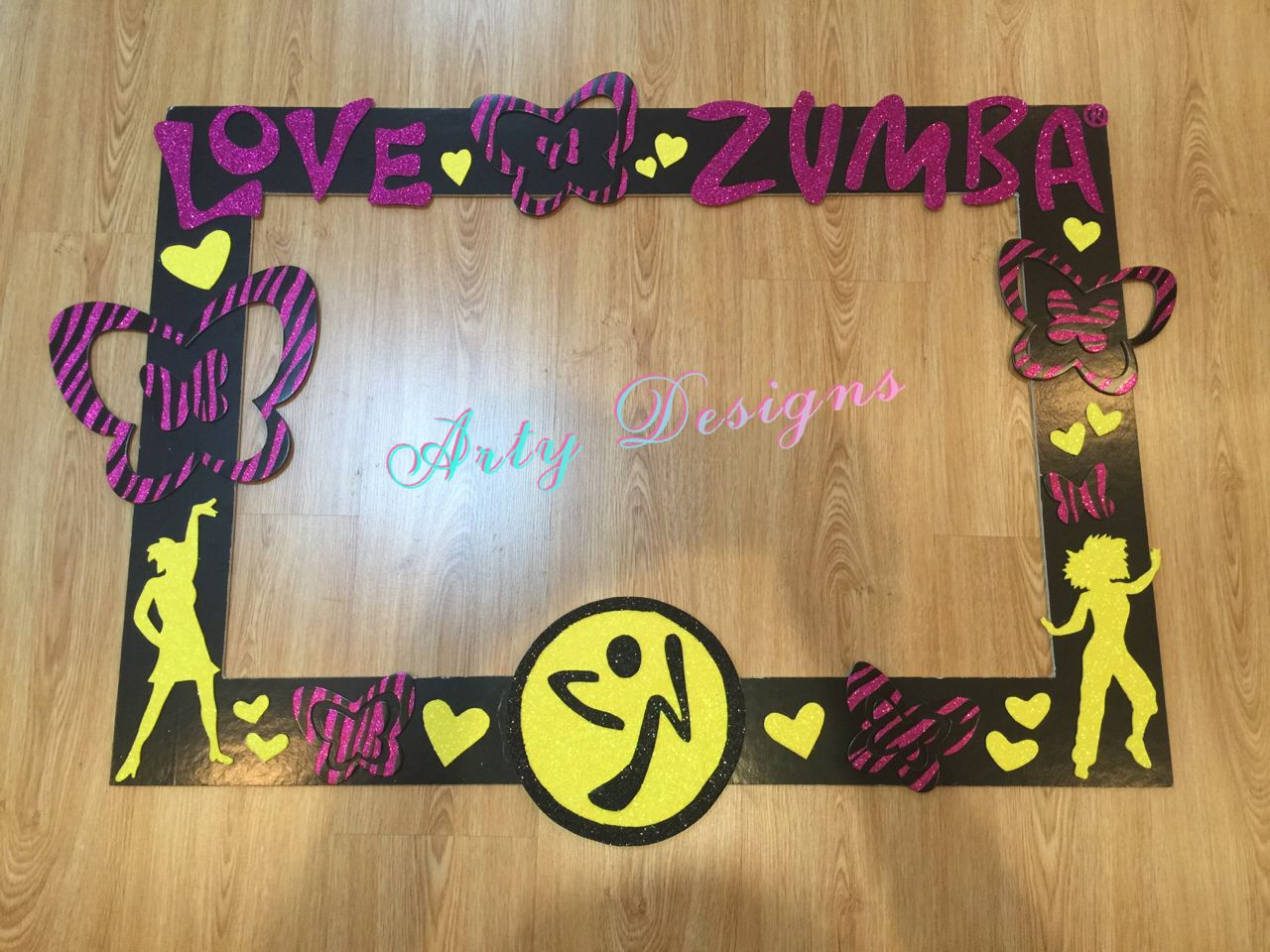 Zumba photo booth frame in 2019.