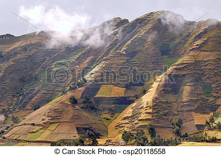Stock Images of Clouds on the fields of Zumbahua in Ecuadorian.
