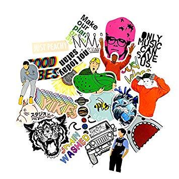 Amazon.com: DADATU Stickers 24pcs Rock Music Crown Shark.