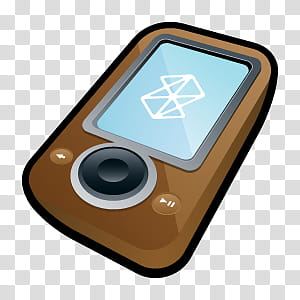 MP Players Icons, Microsoft Zune Brown transparent.