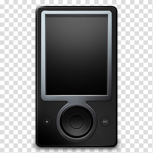 Zune GB, black MP player transparent background PNG clipart.