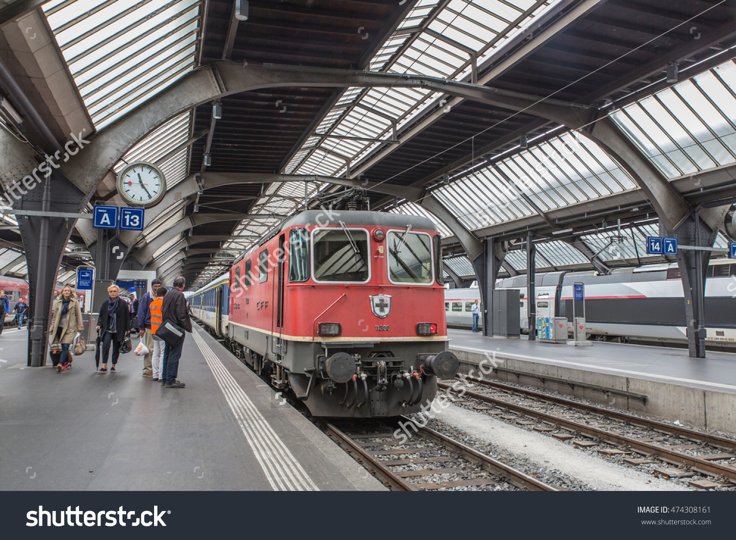 Zurich Switzerland May 30 Train Platform Stock Photo 474308161.