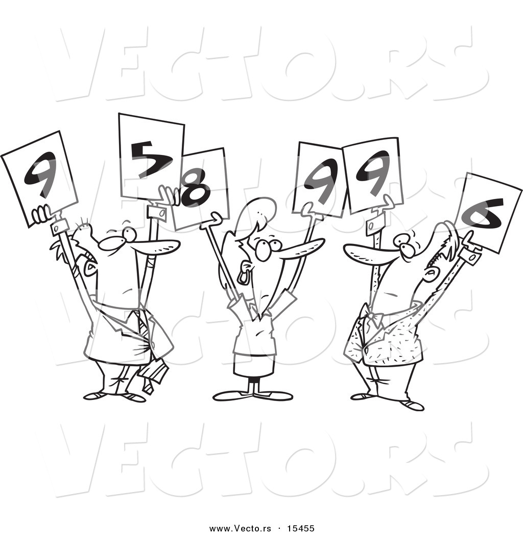 Panel Of Judges Clipart.