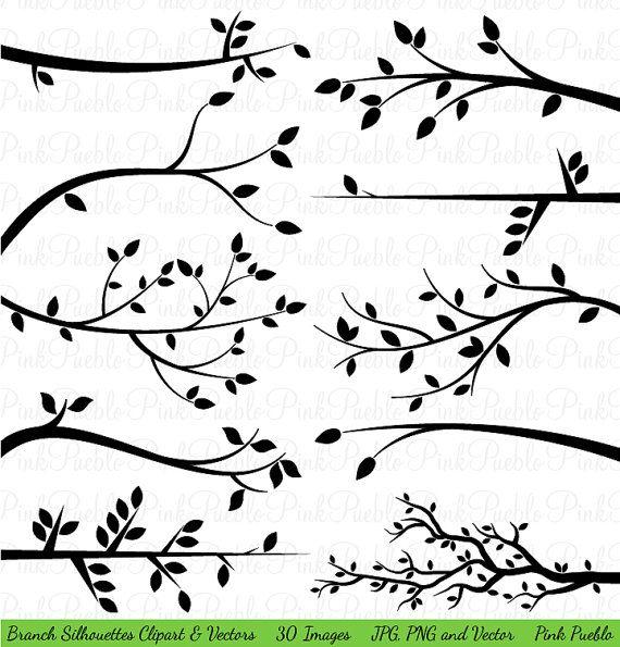 Zweig Silhouetten Clipart ClipArt, Baum Ast Clip Art Clipart.