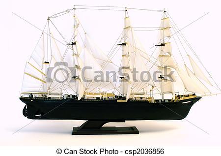 Stock Bild von zweimaster, Schiff, Segelboot, modell, weißes.