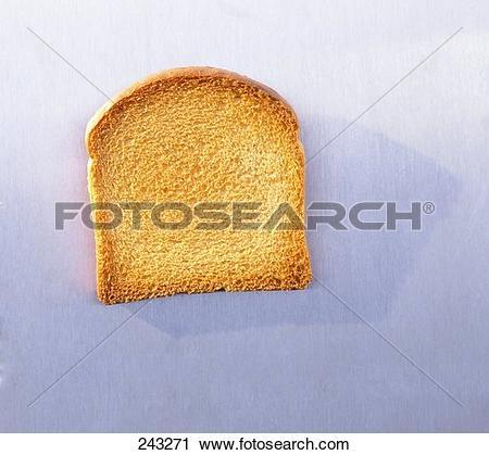 Stock Photography of One slice of zwieback (rusk) 243271.