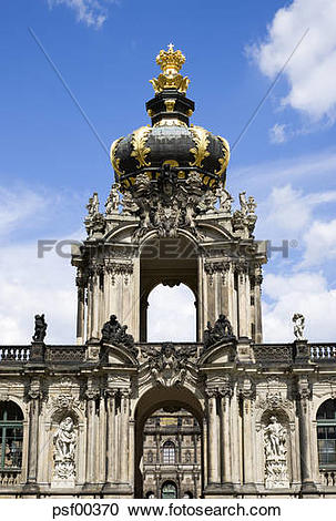 Stock Photography of Germany, Saxony, Dresden, Zwinger palace.