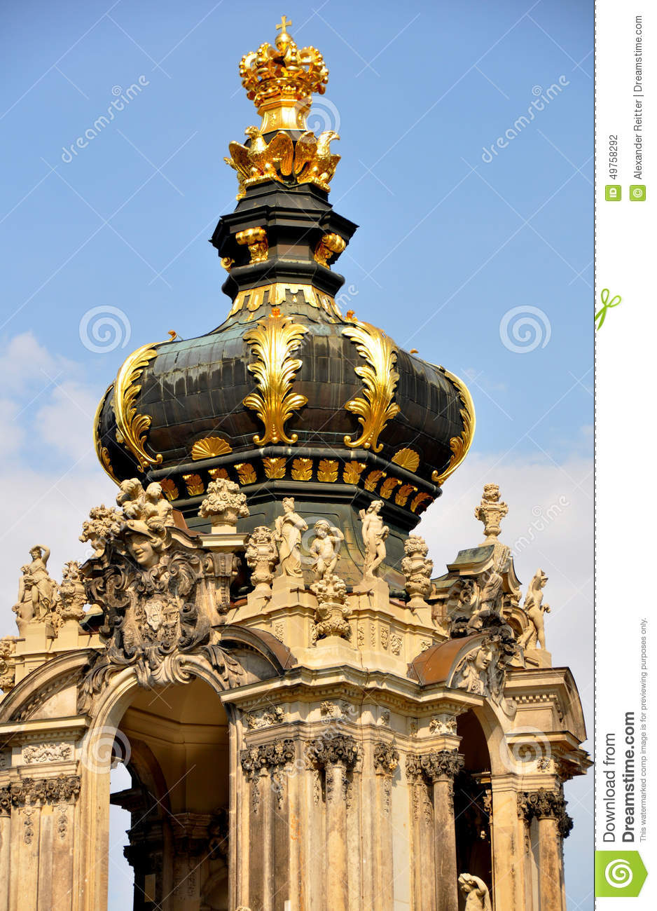 Kronentor, Baroque Architecture Of Dresden's Zwinger, Germany.