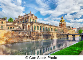 Stock Photo of Zwinger Palace (Der Dresdner Zwinger) Old Masters.