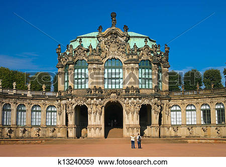 Stock Photograph of The famous Zwinger in Dresden Germany.