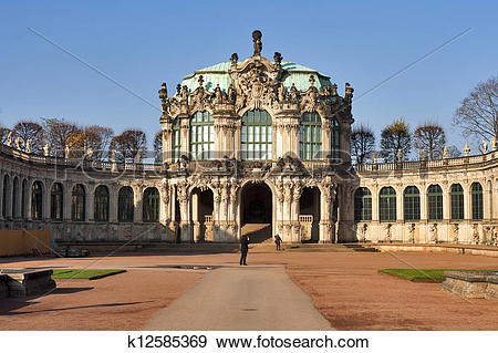 Stock Photograph of Zwinger palace in Dresden, Germany. k12585369.