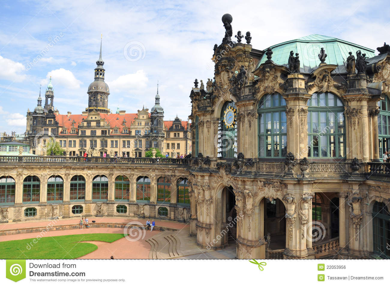 The Zwinger Museum In Dresden,Germany Editorial Photo.