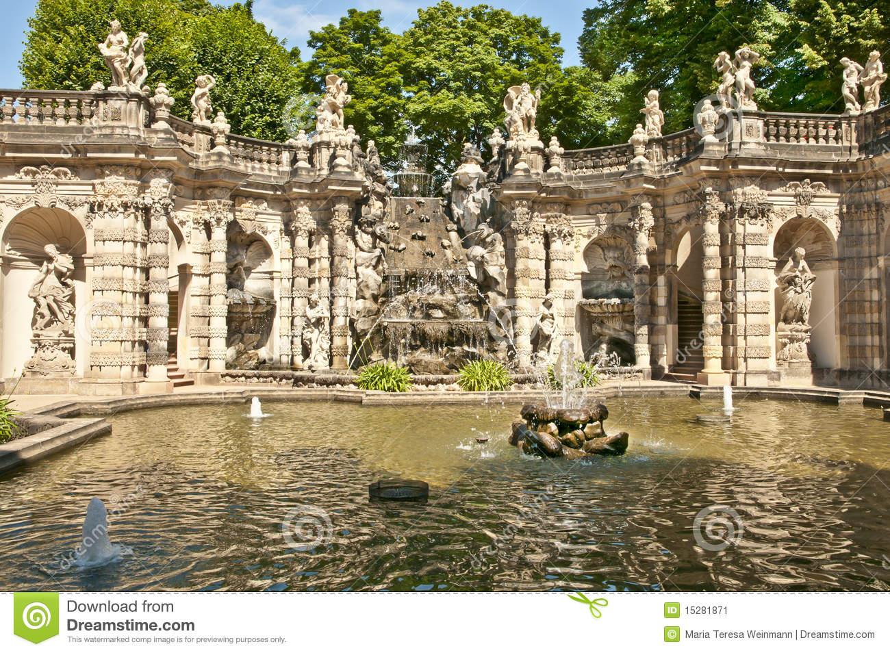 Sculpture In Zwinger, Dresden Stock Photo.