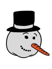 kopf gesicht comic schneemann bauen basteln winter.