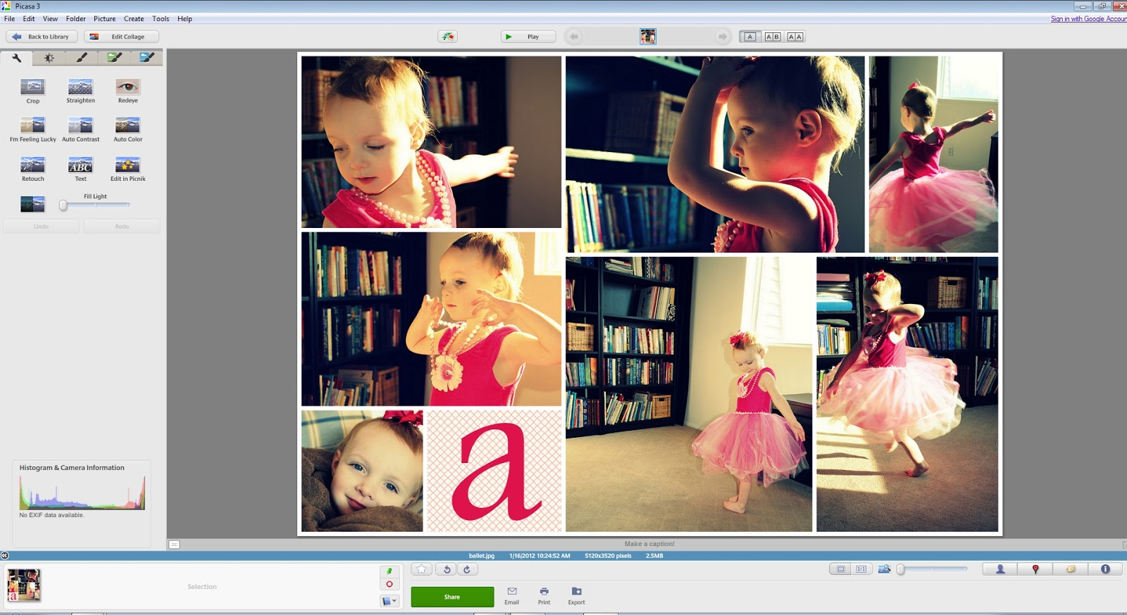 How to make photo collages with Picasa.