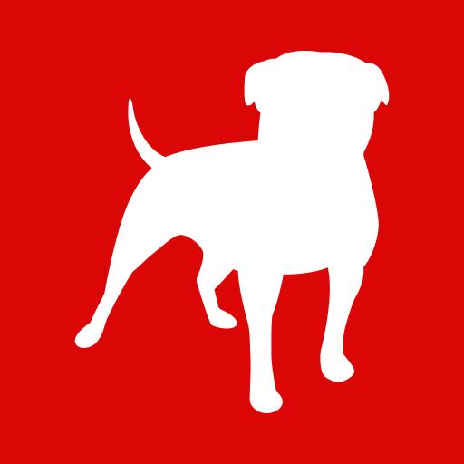 Dog, domestic, pet, social, zinga, zynga icon.