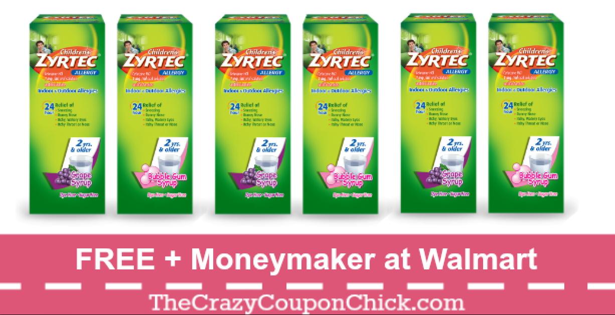 LAST DAY! FREE + MONEYMAKER on Zyrtec Children\'s Allergy.