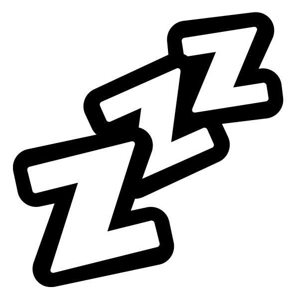 Sleeping Zzz Clipart.