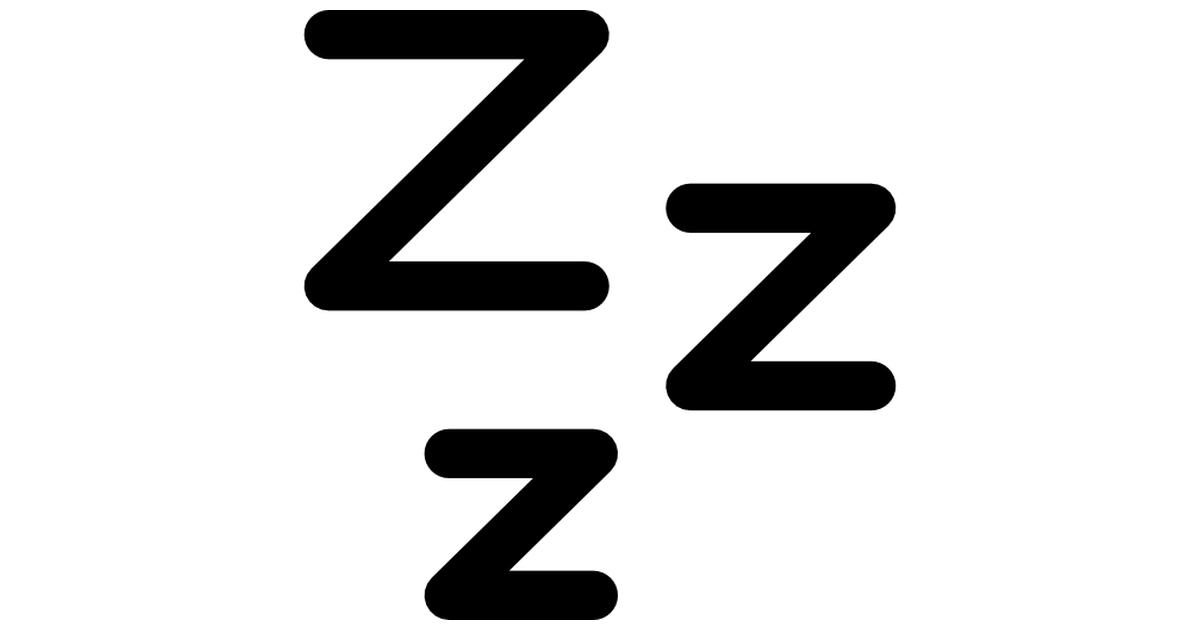 Zzz sleep symbol.