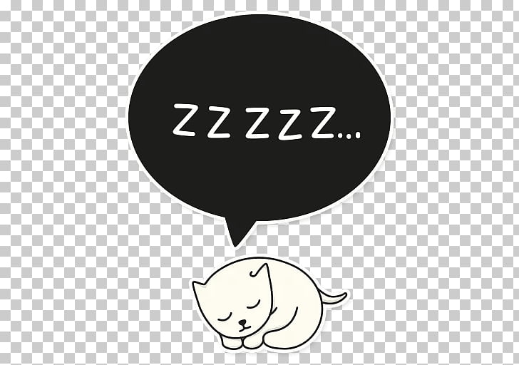 Sticker Telegram Brand Messaging apps Cat, zzzzz PNG clipart.